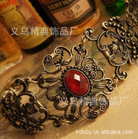 Min Order $10  Accessories fashion royal vintage cutout ruby bracelet hand ring