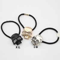 Min Order $10 F026 fashion popular vintage punk three-dimensional skull headband hair rope