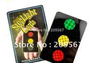 Free Shipping Wholesale/ Stop Light Card / Card Trick/ Close up Magic/ 10pcs/Lot