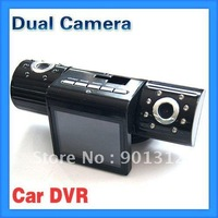 Dual Camera lens IR Night Vision Car Dash Dashboard DVR Lens Rotate 180 degrees