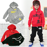 Free Shipping 2013 new children's clothing section thick fleece track suit    T0010