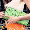 Free shipping-cutout crochet exquisite candy color zipper day clutch small handbag women's handbag shoulder bag(China (Mainland))