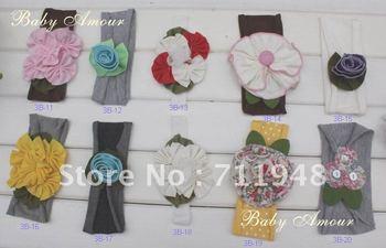 New cute hair band girls' fashion flower HEADBAND hat cap hair band head wrap free shipping