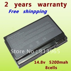 8 cell LAPTOP BATTERY For Acer 63D1,Aspire 3020,3610,5020,Extensa ,TravelMate 2410,4400,C300,C310,BTP-63D1 +free shipping(China (Mainland))