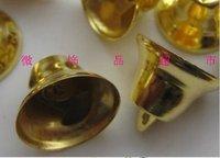 Xmas Decorative Bells 18mm Gold Jingle Bells Small Decor Bells Free Shipping