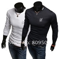 New arrivals Men's long sleeve Slim polo Shirts men sweatshirt men's t shirt free shipping APL005