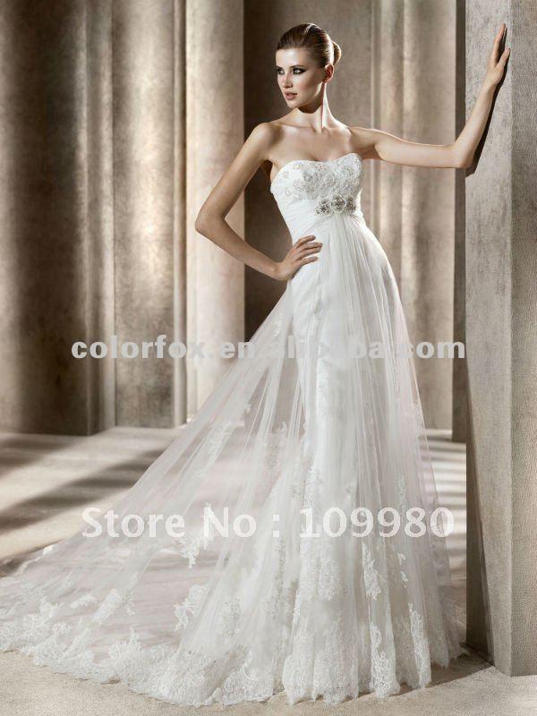 Elegant beaded top sheer lace overlay mermaid wedding for Lace overlay top for wedding dress