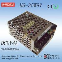 35W 9V Output LED Driver, S-35-9 LED Power Supply, Economical type, 9V4A