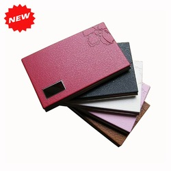 2013 New Arrival Metal Stainless Steel&Pu Leather Credit ID Business Name Card Holder Case With Flower,Promotion Gifts,TNCH032(China (Mainland))