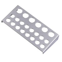 FREE SHIPPING 23 Holes PRO Large Small Tattoo Ink Cap Cup Stand Holder Supply Stainless Steel