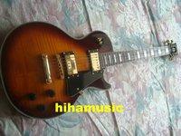Brand new GorE vintage sunburst Mahogany body electric guitar free shipping 2 pickups golden hardware guitars