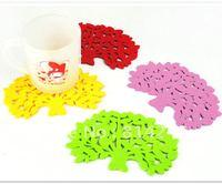 10pcs Derlook multicolour big tree style high temperature resistance felt coasters anti-hot slip-resistant pad single