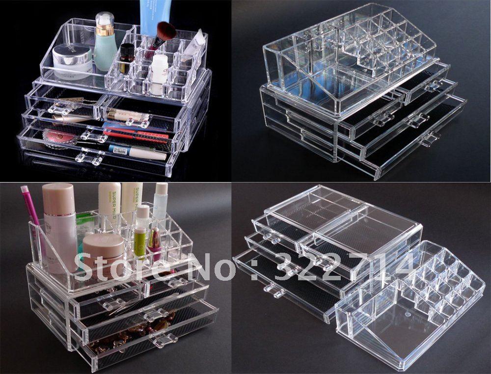 Acrylic Clear Cube Makeup Organizer Amazoncom Online ...