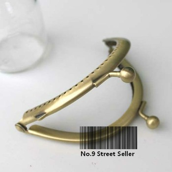 Track Ship + 20pcs/lot DIY Purse 8.5cm Half-round Bronze Metal Purse Frame Handle for Bag Sewing Craft Tailor Sewer