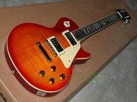 Brand new GorE cherry sunburst signature inlay fretboard red electric guitar free shipping chorme hardware guitars rosewwod