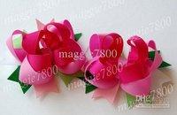 """4.5"""" Baby pink hair bows hair clip Girls' Hair Accessories Baby hair clips grosgrain ribbon bows A382"""