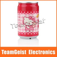 Hello Kitty Cola Can Style Portable USB Supersonic Anion Mini Humidifier, Mini USB Ultrasonic Moist Filter Free Shipping