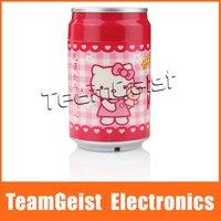 Hello Kitty Cola Can Style Portable USB Supersonic Anion Mini Humidifier, Mini USB Ultrasonic Moist Filter Free Shipping
