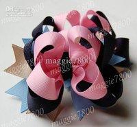 "Wholesale - 4.5"" Baby hair bows hairclip Girls' Hair Accessories Baby hair clips grosgrain ribbon bows 100pcs/lot A383"