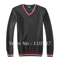 Мужской пуловер Brand new fashion men sweater Foreign trade knitted sweater V-neck collar pullovers long sleeve cardigan sweater 829