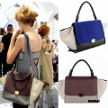 Fashion trapeze high quality big ears bag smiley bag swing bag one shoulder women's handbag