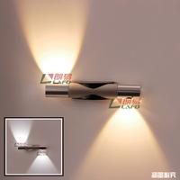220V 2*3W Led wall lamp modern brief wall lights fashion bedside lamp energy saving bedroom Living Room Bar KTV Free Shipping
