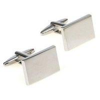 personalized cufflinks plain metal series male silver mirror square cufflinks nail sleeve 155865