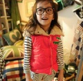 2012 Autumn Korean girls letters thickening cotton vest youngster jacket,Kid's waistcoat,padded gilet+ FREE shipping