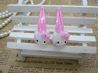Fashion Hello Kitty/princess baby girls BB hair clips+elastic hair bands 4 pcs/set,Classic cartoon hair accessories