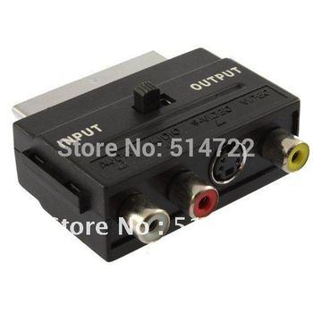 Audio Adapter RGB Scart to Composite RCA S-Video AV TV