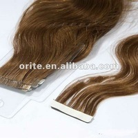 High quality  tape Brazilian virgin hair extension/easy attach hair extension
