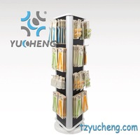 [YUCHENG] 3-side floor rotating jewelry display stand A310-A