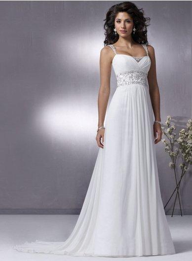 empire wedding dress ivory