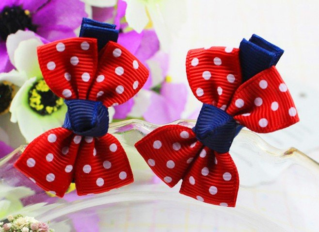 Red special new small bow barrette, high quality the lowest price the market, hot sales, factory direct!(China (Mainland))