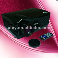 hd video projector resolution 1280*768  with usb/sd card reader and 3*hdmi and 2*speaker (H3)