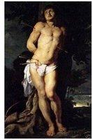 """handicrafts Art Repro oil paintings:St Sebastian 24x36"""" Guaranteed 100% Free shipping"""
