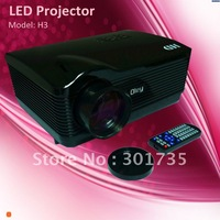 3*hdmi projector with low costresolution 1280*768  with usb/sd card reader (H3)