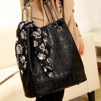 Fashion vintage all-match fashion silk scarf skull bag one shoulder mother bag female bags