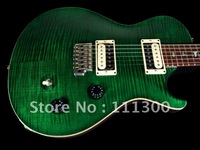 MODEL GUITAR ELECTRIC GUITAR EMERALD GREEN GUITAR FREE SHIPPING #AHL0003