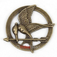 New Antique Bronze The Hunger Games Style Inspired  Pendant Without Loop 72pcs 141477