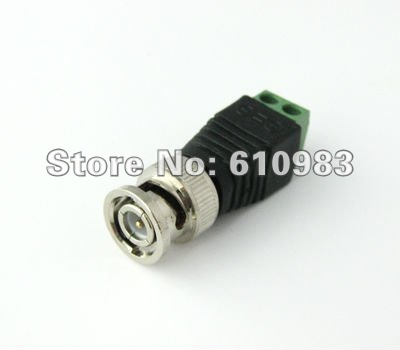 Free shipping (5pieces/lot) Mini Coax CAT5 To Camera CCTV BNC Video Balun Connector Adapter(China (Mainland))