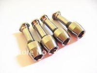 Free shipping Titanium Ti Road Brake V-Brake Pad Bolt Nut 4pcs