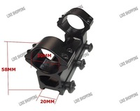 30mm diameter Double Ring High Rifle Scope Mount Rail with 20mm weaver rail free ship