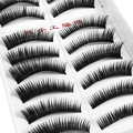 10 Pair Long Black False Eyelashes Eye Lashes Makeup Style 022 Free Shipping