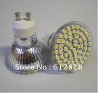 20PCS Energy Saving LED Lamp, FREE SHIPPING gu10 smd 48 LED 220V -240V warm white / day white 3W led light Bulb Wide Degree