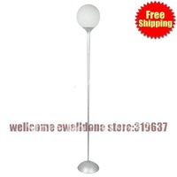Free Shipping 40W Floor Light with White Glass Shade Globe Design