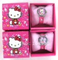 NEW Cartoon Hello Kitty Cartoon Watches Wristwatch box Child Christmas Gift Boys Girls
