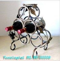 Manufacturers wholesale The retro styles / Zhijiu rack / wine / six  tin wine rack/ holiday gift
