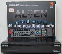 New Arrival!!free shiping! Amiko SHD8900 HD Alien satellite receiver free shipping 5pcs/lot