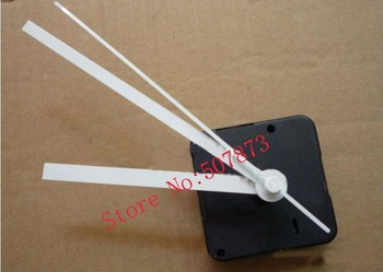50PCS/lot Wholesale Long axis Quartz Clock Movement Kit Spindle Mechanism shaft 20mm with white clock hands BJ009-2